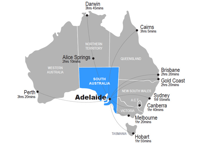 National Flights to Adelaide
