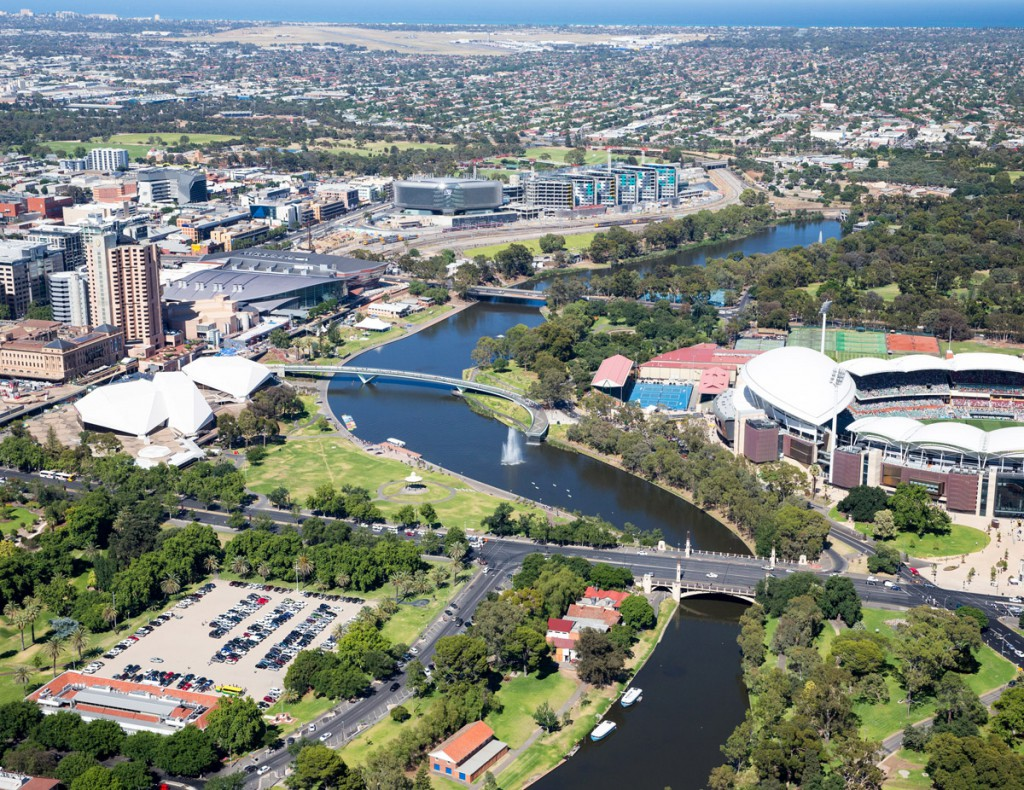 Aerial photograph of Adelaide