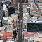 Currie Street aerial view, Adelaide