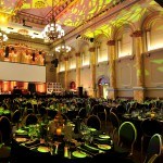 Dinner set up in the Auditorium at the Adelaide Town Hall