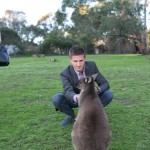 Feeding the kangaroos, Cleland Wildlife Park, Adelaide Hills