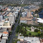 North Terrace aerial view, Adelaide