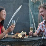 Outdoor dining at the Majestic Roof Garden Hotel, Adelaide