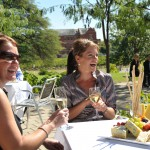 Outdoor dining at the National Wine Centre