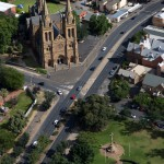 St Peters Cathedral aerial view, North Adelaide