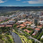 University of Adelaide aerial view, Adelaide